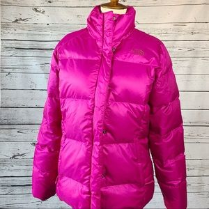 North Face Fuchsia Pink 550 Down Puffer Jacket